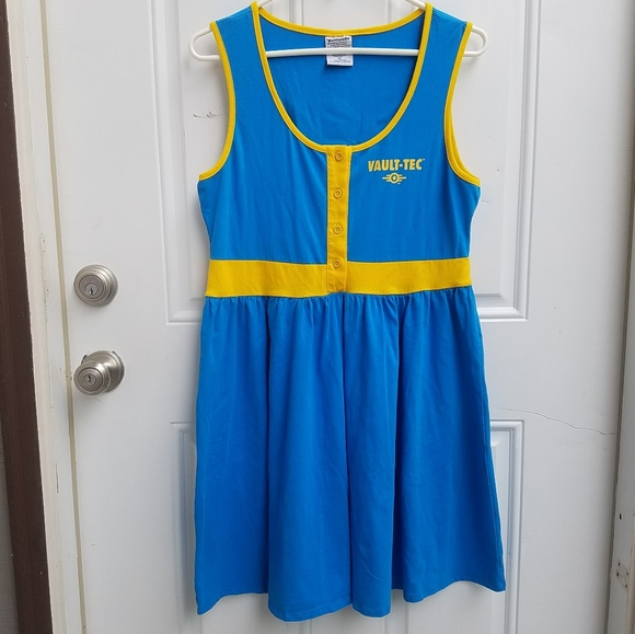 Hot Topic Dresses   Skirts - Fallout 4 Vault 111 Dress Womens XL Cosplay 1b581d3b33